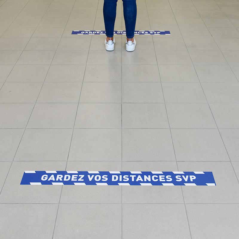 zoom adhésif bandes gardez vos distances