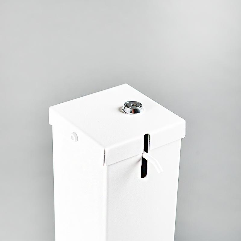 Fermeture totem distributeur de gel blanc