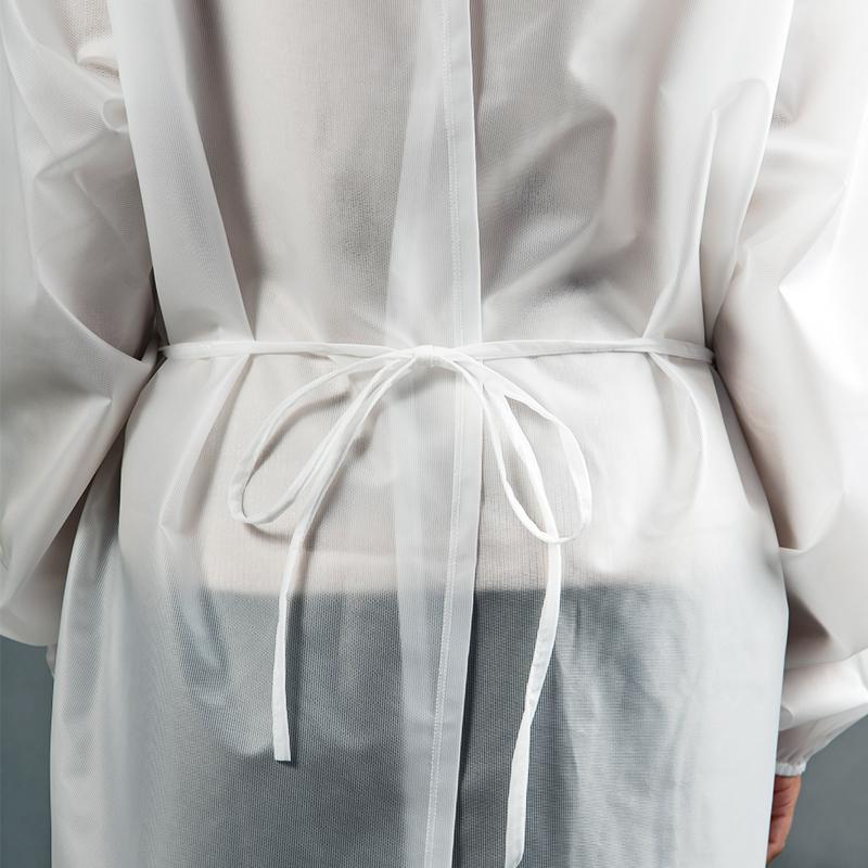 Modèle avec blouses 80gr en polyester et polyuethane fermeture ceinture